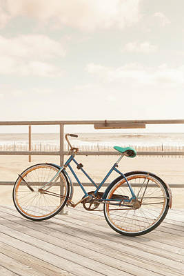 Asbury Park Bicycle Art Print by Erin Cadigan