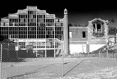 Photograph - Asbury Park Casino Building Collapse by John Rizzuto