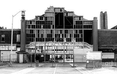 Photograph - Asbury Park Casino Construction 2006 by John Rizzuto