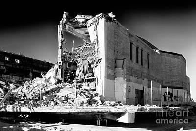 Photograph - Asbury Park Casino Demolition 2006 by John Rizzuto