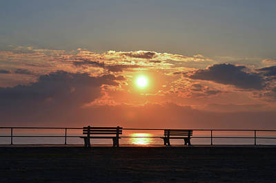 Photograph - Asbury Park On The Boardwalk At Sunrise by Bill Cannon