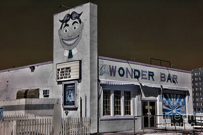 Asbury Park The Wonder Bar In Infared Art Print by Paul Ward
