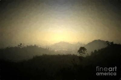Photograph - Ascend The Hill Of The Lord - Digital Paint Effect by Sharon Soberon