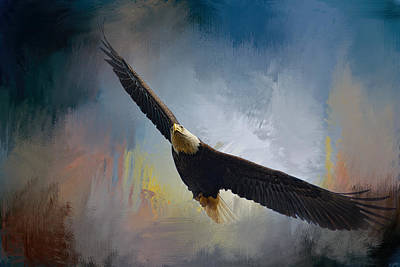 Eagle In Flight Photograph - Ascending by Jai Johnson