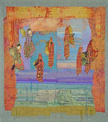 Tapestry - Textile - Ascension Of The Butterfly Women by Roberta Baker