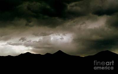 Photograph - Texas Mountains Silhouette And The Ascension Of The Dusking Sky by Michael Hoard