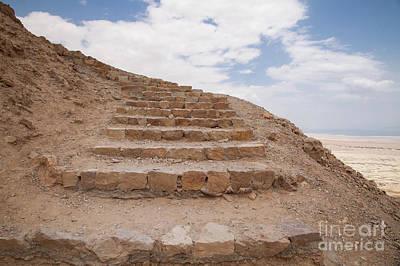 Art Print featuring the photograph Stairway To Heaven - Masada, Judean Desert, Israel by Yoel Koskas