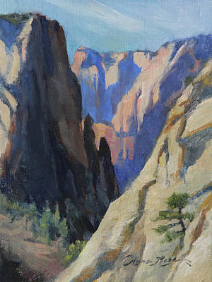 Canyon Painting - Ascent To Observation Point by Anna Rose Bain