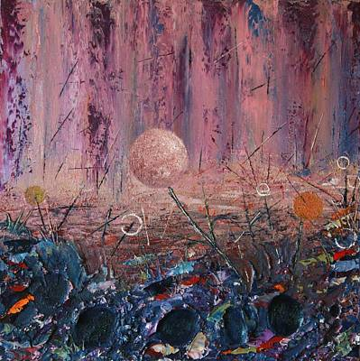 Mystical Landscape Painting - Ascention by Maura  Fahy