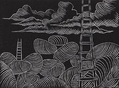 Ascesion Ladder Series Original by John Carr