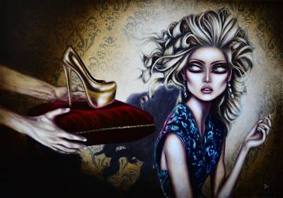 Best Sellers - Surrealism Royalty-Free and Rights-Managed Images - Cinderella Painting by Tiago Azevedo Pop Surrealism Art by Tiago Azevedo