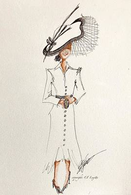 Drawing -  Ascot Duchess Of Sussex by C F Legette