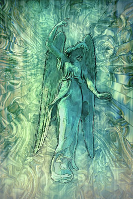 Angelic Mixed Media - Ascending Angel 2016 by Jack Zulli