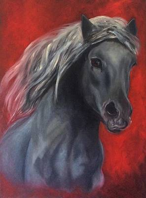 Animal Lovers Painting - Asfaloth  by Mary Papageorgiou