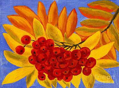 Painting - Ash Berries, Oil Painting by Irina Afonskaya