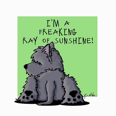 Ash Cairn Sunshine Art Print by Kim Niles