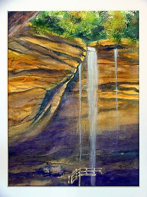 Ohio Painting - Ash Cave by Marsha Elliott
