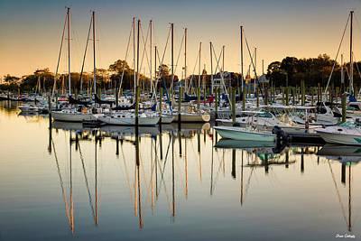 Photograph - Ash Creek Marina by Fran Gallogly