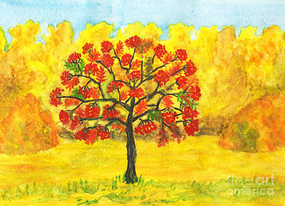 Painting - Ash Tree In Autumn by Irina Afonskaya