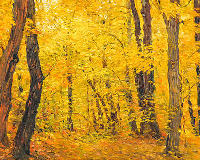 Painting - Ash Trees At Fall by Judith Barath