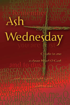 Ash Wednesday Art Print by Chuck Mountain