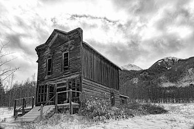 Photograph - Ashcroft Ghost Town Hotel B W by Jemmy Archer