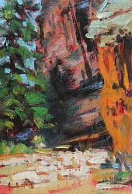 Painting - Ashdown Gorge Of Zion by Owen Hunt
