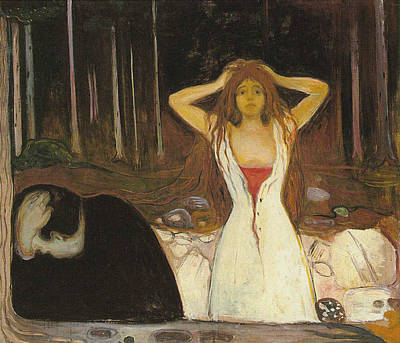 Disorder Painting - Ashes 1894 by Edvard Munch