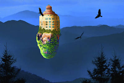 Digital Art - Asheville An Island Unto Itself by John Haldane