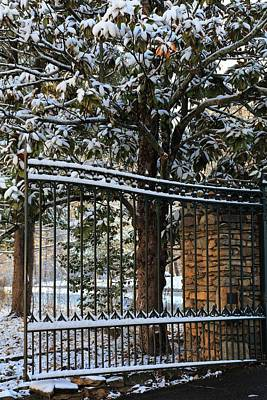 Photograph - Asheville Botanical Gardens Main Gate  by Carol Montoya