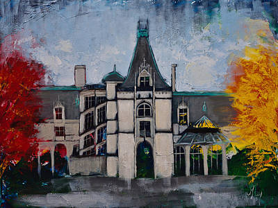 Painting - Asheville Castle In The Mountains  by Gray  Artus