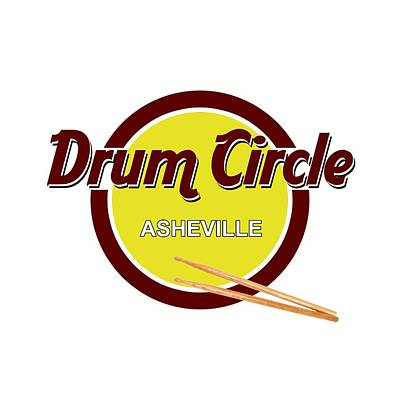 Digital Art - Asheville Drum Circle Logo by John Haldane