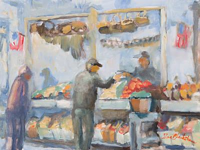 Urban Landscape Painting - Asheville Farmer's Market by Lisa Blackshear