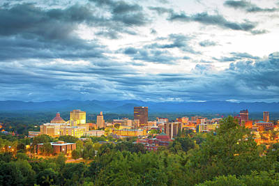 Asheville Mixed Media - Asheville, N.c. Daytime  by Garland Johnson