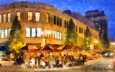 Asheville Nightlife Art Print