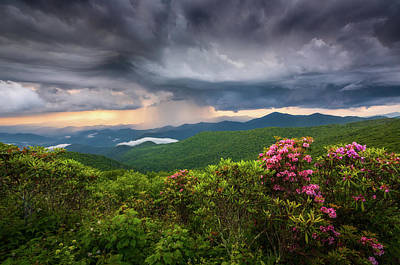 Asheville Wall Art - Photograph - Asheville North Carolina Blue Ridge Parkway Thunderstorm Scenic Mountains Landscape Photography by Dave Allen