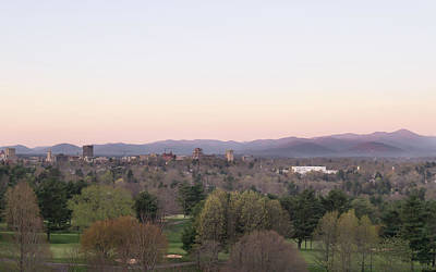 Photograph - Asheville Skyline And Blue Ridge Mountains At Dawn by MM Anderson