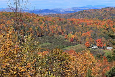 Photograph - Ashfield Apple Valley In Autumn From Bear Swamp by John Burk