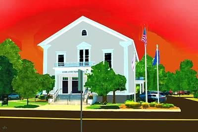 Digital Art - Ashland Town Hall by Cliff Wilson