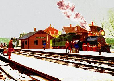 Digital Art - Ashland Mass Rr Depot 1870s  by Cliff Wilson