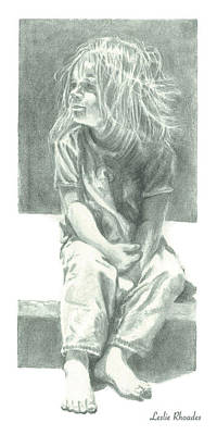 Drawing - Ashlee by Leslie Rhoades