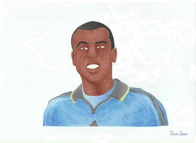 Drawing - Ashley Cole by Toni Jaso