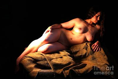 Photograph - Ashley Reclining by Robert D McBain