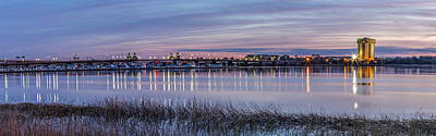 Photograph - Ashley River Bridge Panoramic by Donnie Whitaker