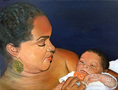 Painting - Ashli And Middleton by Marlene Book