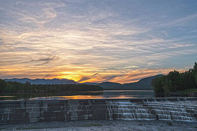 Photograph - Ashokan Spillway Sunset by Angelo Marcialis