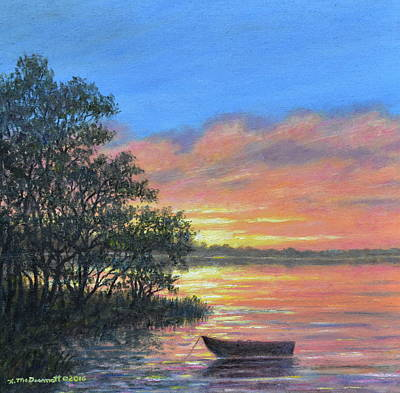 Painting - Ashore At Dusk # 3 by Kathleen McDermott