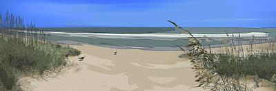 Digital Art - Ashore by Gina Harrison