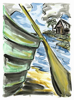 Print featuring the painting Ashore by Robert Joyner