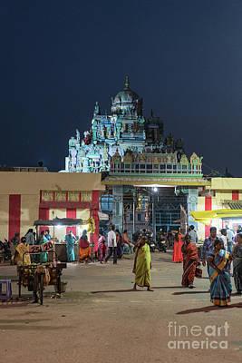 Photograph - Ashtalakshmi Temple At Night Chennai India by Mike Reid